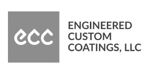 engineered custom coatings logo - greyscale