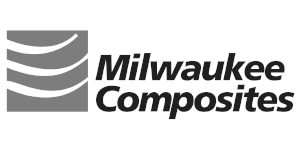 milwaukee composites logo - greyscale