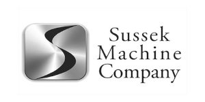 sussek machine company logo - greyscale
