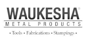 waukesha metal logo - greyscale